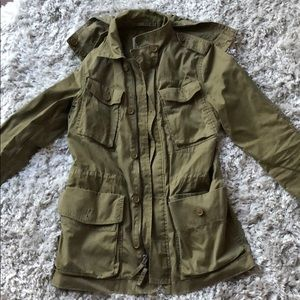 J Crew Cargo Jacket with Removable Hood